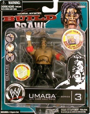 WWE Wrestling Build N' Brawl Series 3 Mini 4 Inch Action Figure Umaga (With Cage Wall) (Wwe Build N Brawl Ring compare prices)