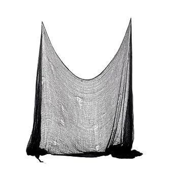 Halloween Deko Stoff Dekostoff Tuch Decke Horror Halloweenstoff schwarz 300 x 75 cm