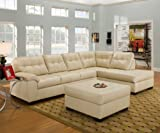 Simmons Upholstery Soho LAF Sofa-RAF Chaise Sectional and Ottoman 9569-natural