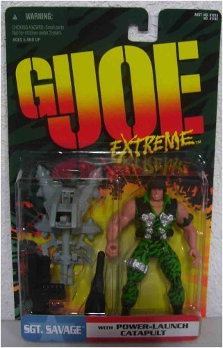 GI Joe Extreme SGT Savage with Power-Launch Catapult - 1