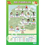 Mi FamiliaModern Languages Educational Wall ChartPoster in laminated paper A1 850mm x 594mm