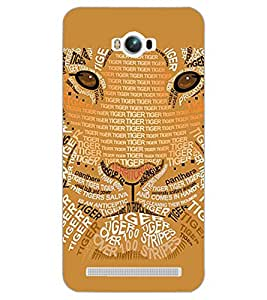 PrintDhaba TIGER QUOTE D-6966 Back Case Cover for ASUS ZENFONE MAX ZC550KL (Multi-Coloured)