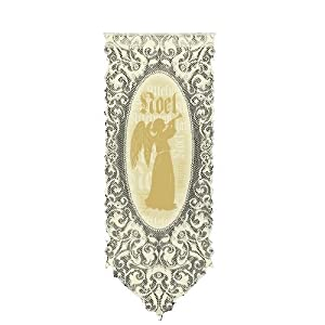 Heritage Lace Noel Angel 12-Inch by 30-Inch Ecru Wall Hanging
