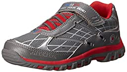 Stride Rite Star Wars Force Control Light-Up Sneaker (Toddler/Little Kid),Grey/Red,2 W US Little Kid