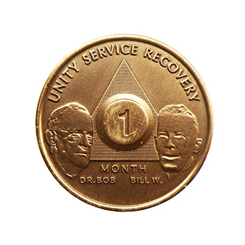 1 Month Bill & Bob Founders Edition Bronze AA (Alcoholics Anonymous) - Sober / Sobriety / Birthday - Anniversary Recovery Medallion / Coin / Chip