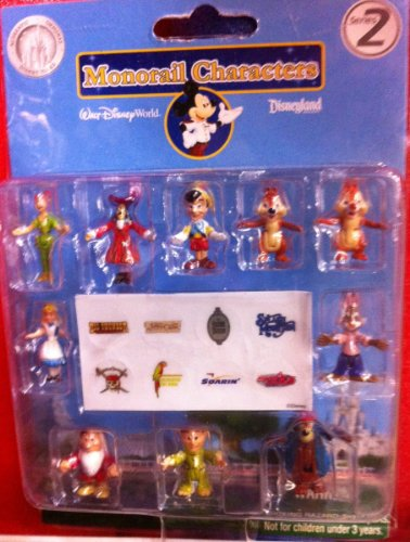 Disney Character Exclusive Monorail Train Set Figure Set # 2 New