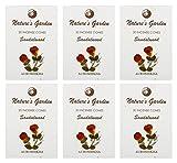 Auroshikha Nature's Garden Incense Cones - SANDALWOOD (276gms,120 cones ) Set of 6