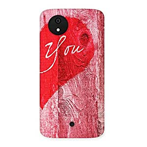 Cute Pink You Multicolor Back Case Cover for Micromax Canvas A1