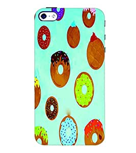 PrintDhaba Donnats D-3861 Back Case Cover for APPLE IPHONE 5S (Multi-Coloured)