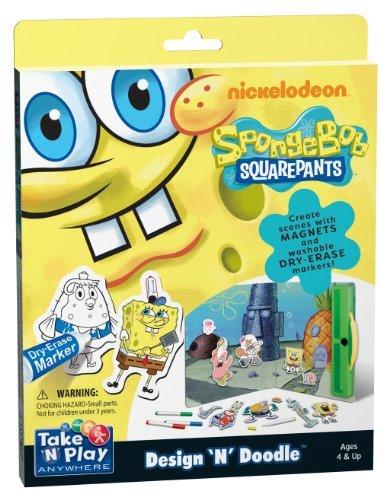 Two Activities In One Dry-Erase And Magnetic Play - SpongeBob SquarePants Design 'N' Doodle - SpongeBob SquarePants