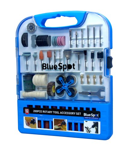 Blue Spot 19017 Rotary Tool Accessory Kit (200 Pieces)