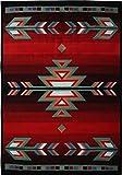 Home Dynamix Premium 7053-450 Polypropylene 3-Feet 7-Inch by 5-Feet 2-Inch Area Rug, Black