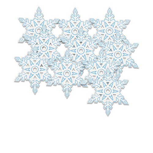 "5"" Paper Cut Out Snowflake Decorations, 10ct"