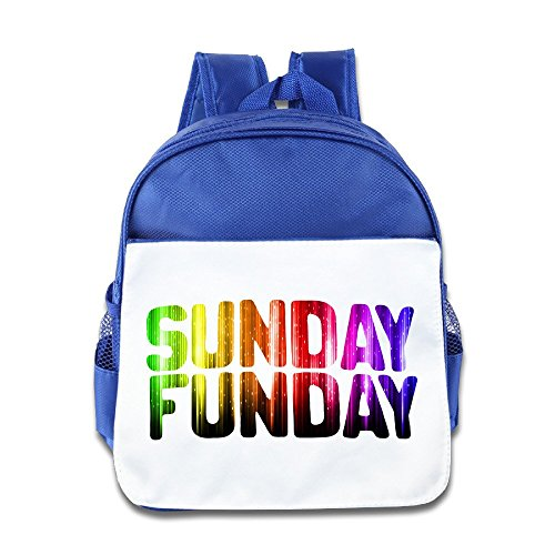 Jade Custom Cute Sunday Funday With Rainbow Mixed Boys And Girls Schoolbag For 1-6 Years Old RoyalBlue