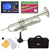 Mendini MTT-N Nickel Plated Bb Trumpet