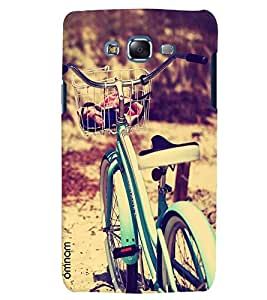 Omnam Cycle Standing In Park Photo Designer Back Cover Case For Samsung Galaxy J7
