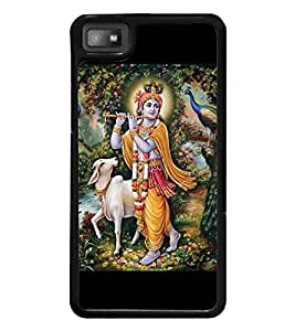 Lord Krishna 2D Hard Polycarbonate Designer Back Case Cover for BlackBerry Z10