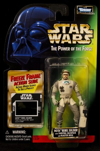 Star Wars Power of the Force Hoth Rebel Soldier - Green Card - 1