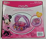 Disney Minnie Mouse Inflatable Kids Float with Optional Sun Cover Canopy