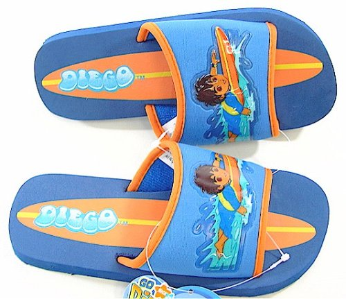 Go Diego Go! Surfing Dark Blue & Orange Kids Sandals By Nickelodeon