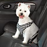 Harness Houndstooth Car Safety Seat Belt Small/medium Chocolate Color