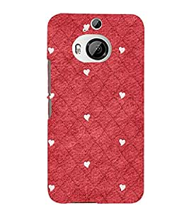 Red Color Diamond Pattern 3D Hard Polycarbonate Designer Back Case Cover for HTC One M9+ :: HTC One M9 Plus