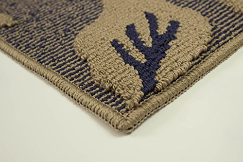 Jean Pierre Kimmy Textured Decorative Accent Rug, Blue Lagoon, 28 x 48