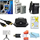 32GB Accessories Bundle Kit For Canon PowerShot SX50 HS, SX50HS, SX40 HS, G1 X, G15, G16, G3 X Digital Camera Includes 32GB High Speed SD Memory Card + Replacement NB-10L Battery + Charger + More