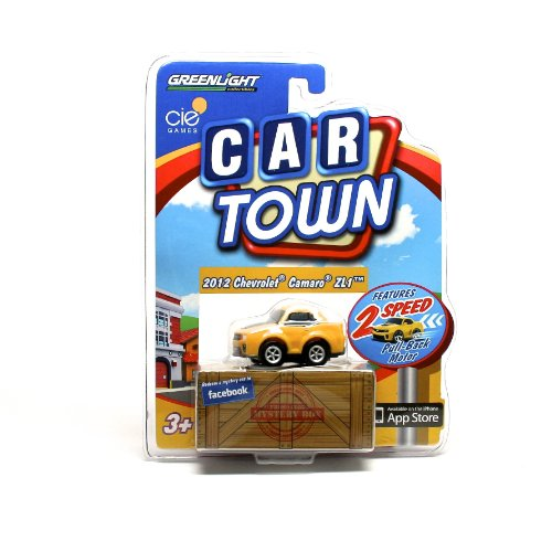 2012 CHEVROLET CAMARO ZL1 (YELLOW) * 2 Speed Pull-Back Motor * 2013 Car Town Series 2 Greenlight Collectibles Vehicle