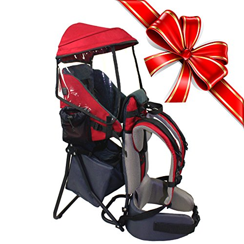 baby-back-pack-cross-country-carrier-stand-child-kid-sun-shade-visor-shield-red