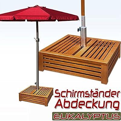 Schirmständer Abdeckung Holz - Holzabdeckung Sonnenschirmständerabdeckung von Deuba® - Gartenmöbel von Du und Dein Garten