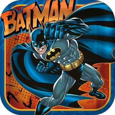 Batman Heroes and Villains Square Dinner Plates (8) Party Accessory by Hallmark