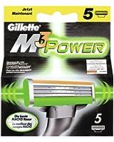 Gillette M3 Power Blades, 5 pièces