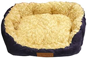 Ellie-Bo Rectangular Dog Bed with Faux Suede Sides/ Non-slip Base/ Ultrasoft Lining 35-inch