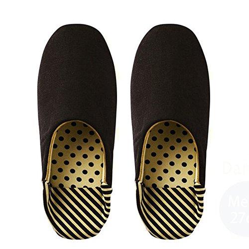 Danke(ダンケ) ルームシューズ Roomshoes A Mens BLACK FREE (約27cm)