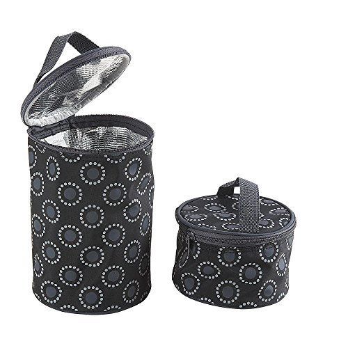Koala Baby 2 in 1 Bottle Cooler and Food Tote - Black/Gray - 1