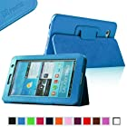 Fintie (Blue) Slim Fit Folio Case Cover for Samsung Galaxy Tab 7.0 Plus / Samsung Galaxy Tab 2 7.0 Tablet-Multiple Color Options