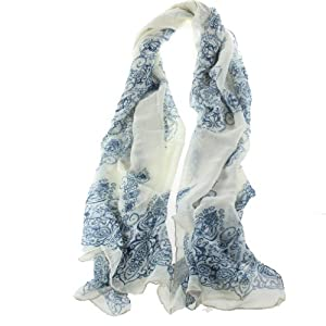 Womdee(TM) Scarf Thin Long Scarf Wrap Silk Scarves For women Girl Lady With Womdee Accessory