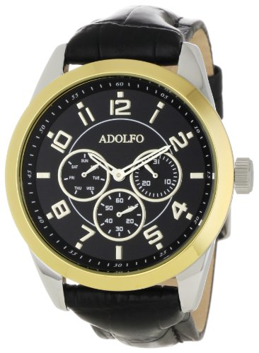 ADOLFO Men's 31016B Multifunction 3 Sub Zone Watch
