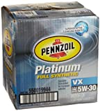 Pennzoil 550019944-6PK Platinum VX 5W-30 Synthetic Motor Oil - 1 Quart, (Pack of 6)