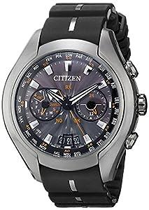 Citizen Men's CC1076-02E Satellite Wave Air Eco-Drive Watch with Black Band