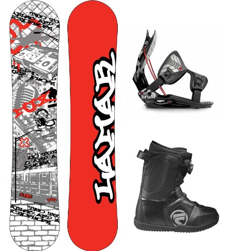 Lamar Mix Complete Snowboard Package with Flow Flite 1 Bindings and Flow Vega BOA Men's Boots Board Size 154