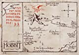 The Hobbit - Vintage Look Parchment Print / Movie Poster (Map Of Lonely Mountain) (Size: 26