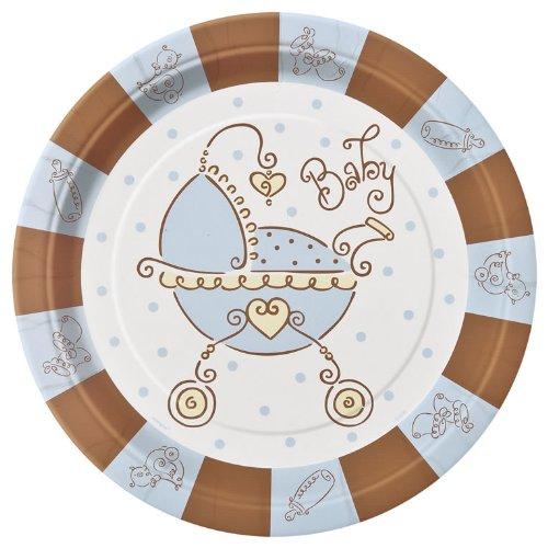 "Baby Joy Blue 9"" Lunch/Dinner Plates 8ct"
