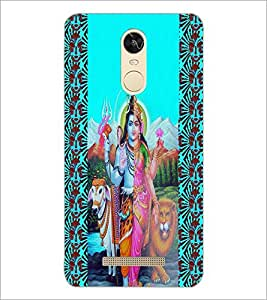 PrintDhaba Lord ArdhNareshwar D-3318 Back Case Cover for XIAOMI REDMI NOTE 3 (Multi-Coloured)