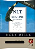 echange, troc  - Holy Bible: New Living Translation, Black, Bonded Leather, Slimline Reference, Graduate Edition