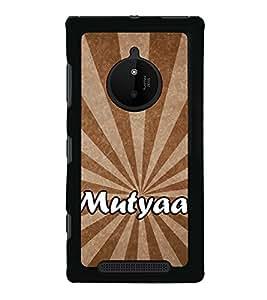 Mutyaar 2D Hard Polycarbonate Designer Back Case Cover for Nokia Lumia 830 :: Nokia Lumia 830 RM-984