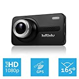 """KDLINKS® X1 Full-HD 1920*1080 165° Wide Angle Car Dashboard Camcorder with GPS, G-Sensor, WDR Superior Quality Night Mode, 12MP 6-Glass Lens, 2.7"""" Screen, Media Player of Route Tracking & Google Map, 8GB Micro SD included"""
