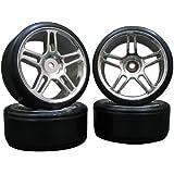 4x Onroad Drift Reifen Felgen 1/10 Custom Pimp Style FR31
