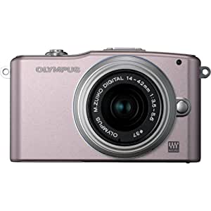 Olympus Pen E-PM1 12.3 MP Digital Camera with CMOS Sensor and 3 x Optical Zoom (Pink) (Old Model)